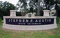 Stephen F. Austin State University sign IMG 3329.JPG
