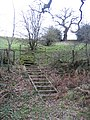 Steps and Stile above Nant-y-Fflint - geograph.org.uk - 325000.jpg
