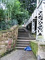 Steps by the Queens Park Bridge - geograph.org.uk - 499474.jpg