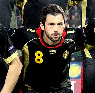 Steven Defour - Defour lining-up for Belgium in 2011
