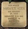 Stolperstein Bamberger Str 37 (Schön) Margarete Meyer.jpg