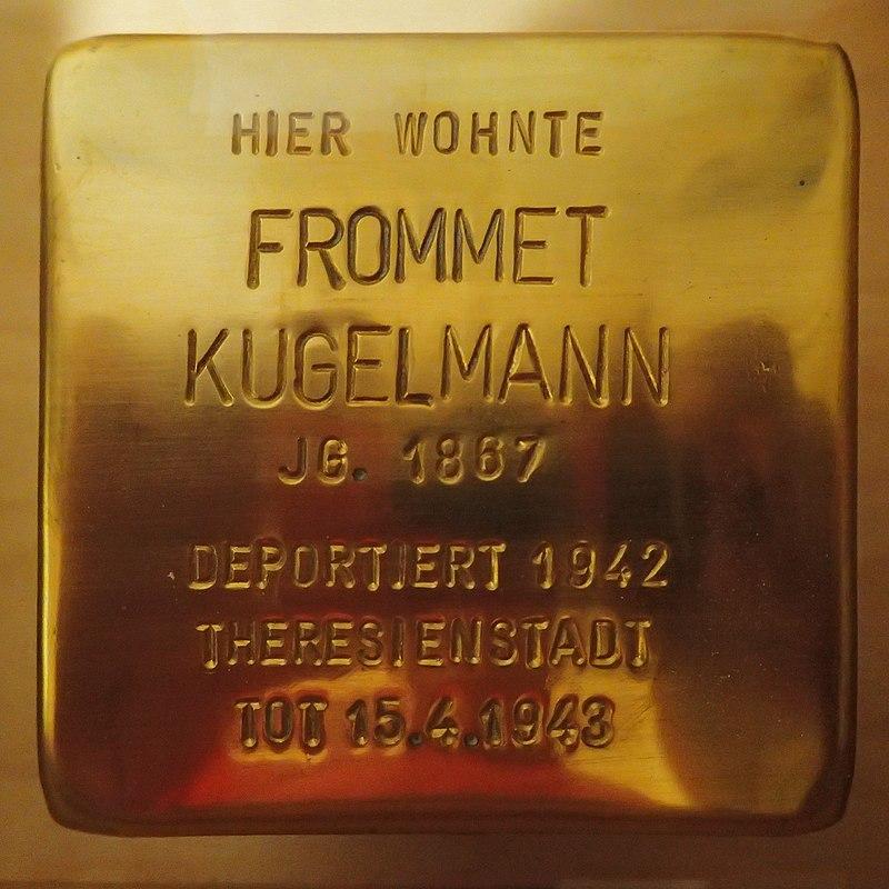 Stolperstein für Frommet Kugelmann