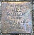 Stolperstein Hektorstr 18 (Halsee) Alice Rosenbaum.jpg
