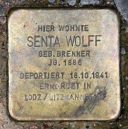 Photo of Senta Wolff brass plaque