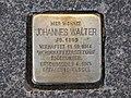 Stolperstein Johannes Walter, 1, Breitscheidstraße 20, Vorderer Westen, Kassel.jpg