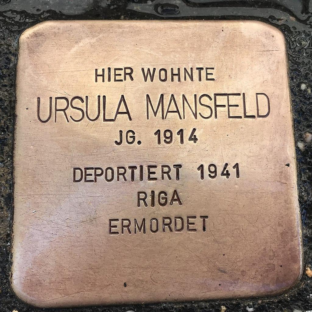 Stolperstein Ursula Mansfeld in Lüchow ( Wendland).jpg
