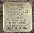 Stolperstein Westfälische Str 62 (Halsee) Johanna Schwersenski.jpg