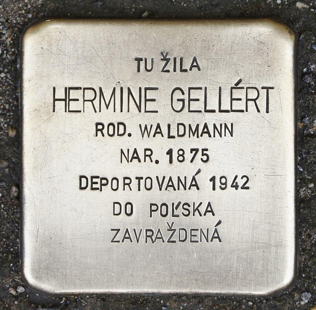 Stolperstein für Hermine Gellért.JPG