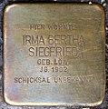 Stolpersteine Köln, Irma Bertha Siegfried (Sülzgürtel 72).jpg