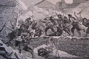 Battle of Pirot - Street fighting in Pirot