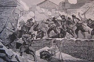 Serbo-Bulgarian War - Street fighting in Pirot.