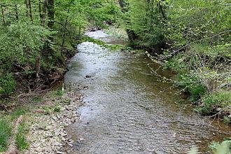 Stony Brook (Millstone River tributary) - Image: Stony Brook (Pennsylvania)