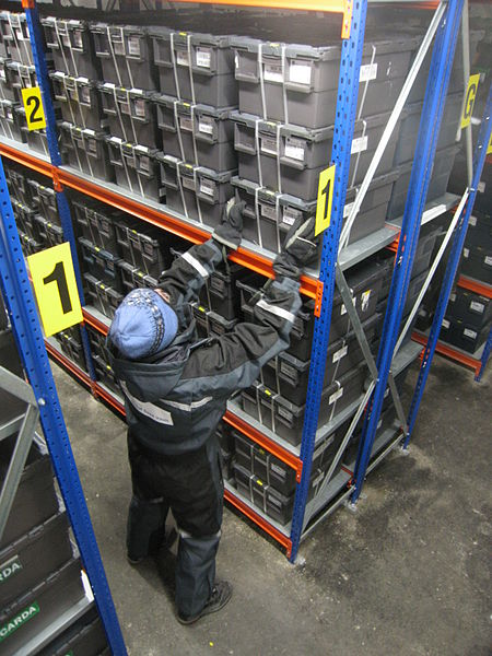 File:Storage containers in Svalbard Global Seed Vault 01.jpg