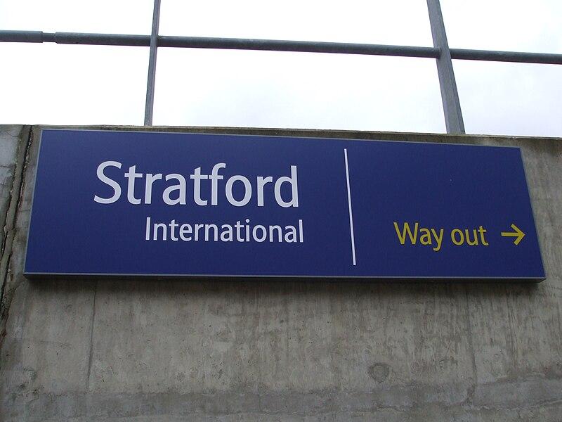 File:Stratford International stn platform signage.JPG