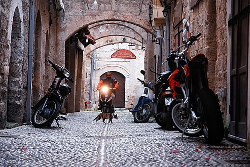 Streets of the old town of Rhodes (World Heritage City, UNESCO). Rhodes, the island of Rhodes, the Dodecanese, Greece.jpg