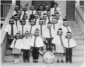 Students in band at Beclabito Day School - NARA - 295163.tif