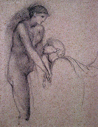 Pygmalion and the Image series - Study for The Soul Attains, in The New Art Gallery Walsall