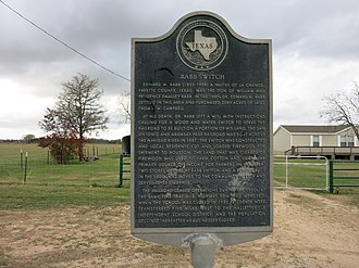 Sublime, Texas - Image: Sublime TX Rabb Switch Marker