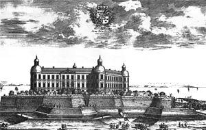 Borgholm - Image: Suecia 3 101 ; Arx Borgholm versus Orientem 1691
