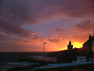 Porthleven - Image: Sunset 6