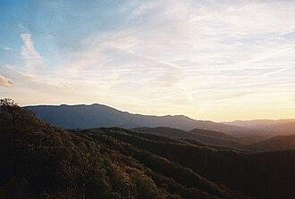 Celo Knob - Celo Knob At Sunset