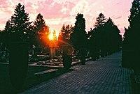Sunset over Žale (8558817486).jpg