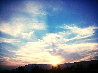 Abbottabad - A sunset scene in Abbottabad.