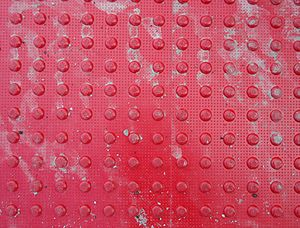 Texture (visual arts) - The bumpy texture of tactile paving.