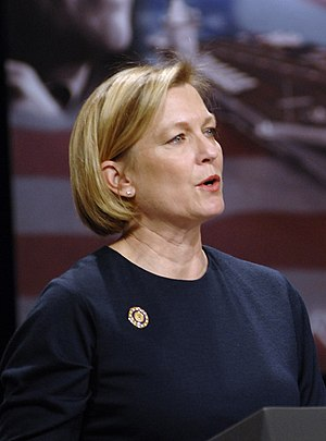 Susan Ford - Speaking at the official naming ceremony of the USS Gerald R. Ford (CVN 78), 2007.