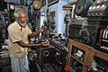Sushil Kumar Chatterjee Maintains 35mm Film Portable Projector - Kolkata 2017-02-23 0493.JPG