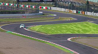 Chicane - The Casio Triangle chicane on the Suzuka Circuit