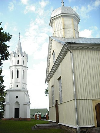 Svėdasai - Image: Svėdasų Šv. arkangelo Mykolo bažnyčia