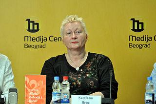 Svetlana Broz Bosnian-Serbian writer and physician