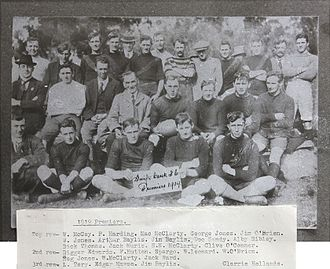 Omeo & District Football League - Swifts Creek's 1919 ODFA premiership team; note the variety of club jumper designs, all significantly different to the current design