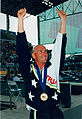 Swimming Brendan Burkett arms aloft Atlanta Paralympics.jpg