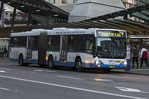 Volvo B12BLE - Sydney Buses Volvo B12BLEA articulated vehicle with Custom Coaches body