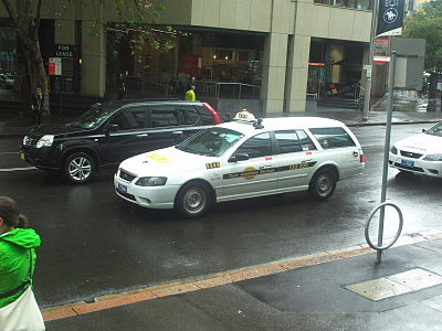 A taxicab in Sydney's CBD
