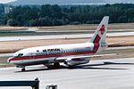 "TAP Air Portugal Boeing 737-282C-Adv CS-TEQ ""Villa Real"" ""40th anniversary sticker"" (31622098405).jpg"