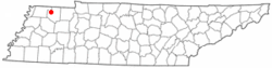 Location of Martin, Tennessee