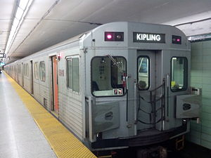 H-series (Toronto subway) - An H6 train at St George Station (since retired)