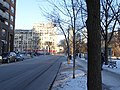 TTC bus 7793 proceeding west on the Esplanade, 2015 01 13 (9) (16279119501).jpg