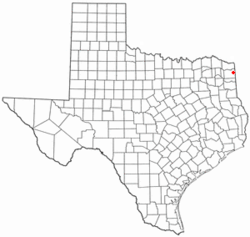 Location of Queen City, Texas