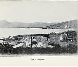 Tabgha - Image: Tabgha Ein Sheva 1903