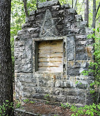 Table Rock Civilian Conservation Corps Camp Site - Grotto Fountain and Basin, Table Rock CCC Camp Site, April 2012