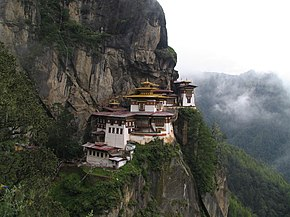 Il monastero di Taktsang, vicino a Paro