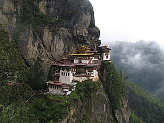 Mountain research - Paro Taktsang, a Himalayan monastery in Bhutan.