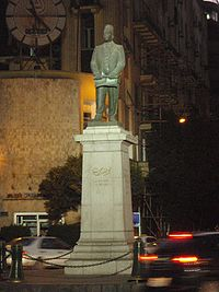 Statue of Talaat Harb standing in Talaat Harb Square, downtown Cairo.
