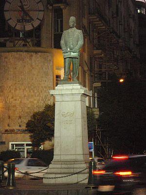 Talaat Harb Street - Statue of Talaat Harb, in Talaat Harb Square.