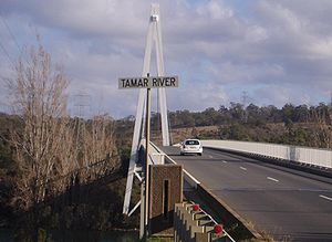 Batman Bridge - Image: Tamar river batman bridge