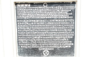 St. Andrew's Church, Puducherry - Tamil inscriptions,the oldest one found in churches in South India